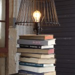 Bedside Table books-lamp-diy