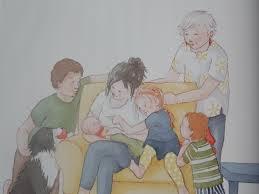 Grandma the baby and me illo spread