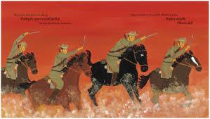 Light Horse Cavalry charge Frane Lessac's Midnight