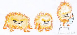 Olivers's Grumbles illos spread